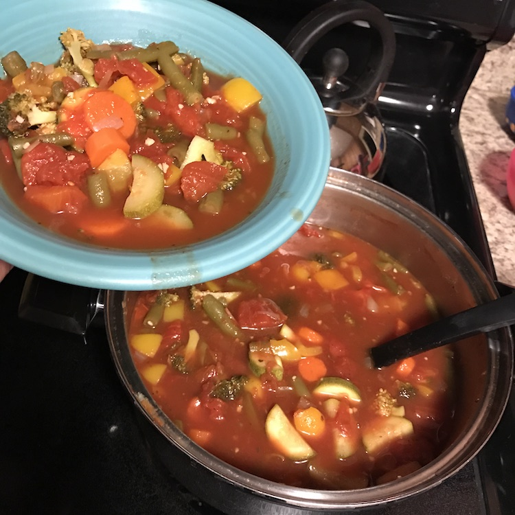 healthy WW vegetable soup